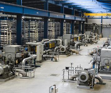 Adelaide desalination plant inside